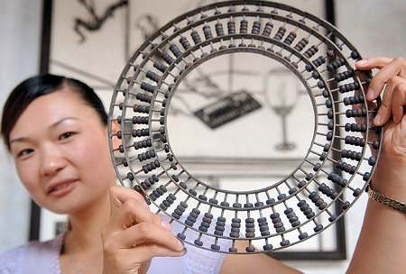 Round Bagua Chinese Abacus Circular Suanpan Ancient Abaci Calculator Calculating Aide Ming Dynasty ChinaDaily