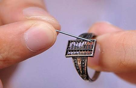 Tiny Abacus Ring Finger Silver Chinese Abaci Circular Suanpan Ancient Calculator Calculating Aide Qing Dynasty ChinaDaily