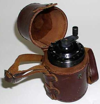 Curta Calculator Type I with rare leather case (source ebay jerimiah03)