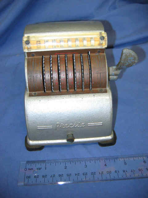 Precise Adding Machine - Precise Developments Co. Inc. Chicago IL U.S.A. 1946