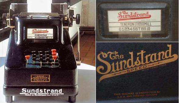 Sunstrand Adding Machine - Underwood Sunstrand 10 key Listing Machine